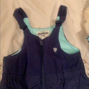 NEW Girls 2pc Ski Jacket & Bibs Size 5/6 NAVY/TEAL